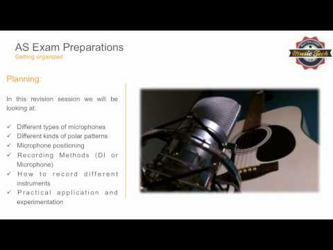 AS Music Technology Revision Guide - Microphones and Recording
