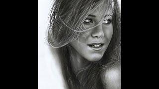 Jennifer Aniston photorealistic portrait pencil art ( speed drawing )