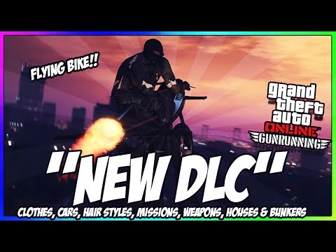 GTA 5 ONLINE GUNRUNNING DLC LIVE!! - NEW CARS, BUNKERS, WEAPONS & MORE + MAKING MILLIONS (GTA 5 DLC)