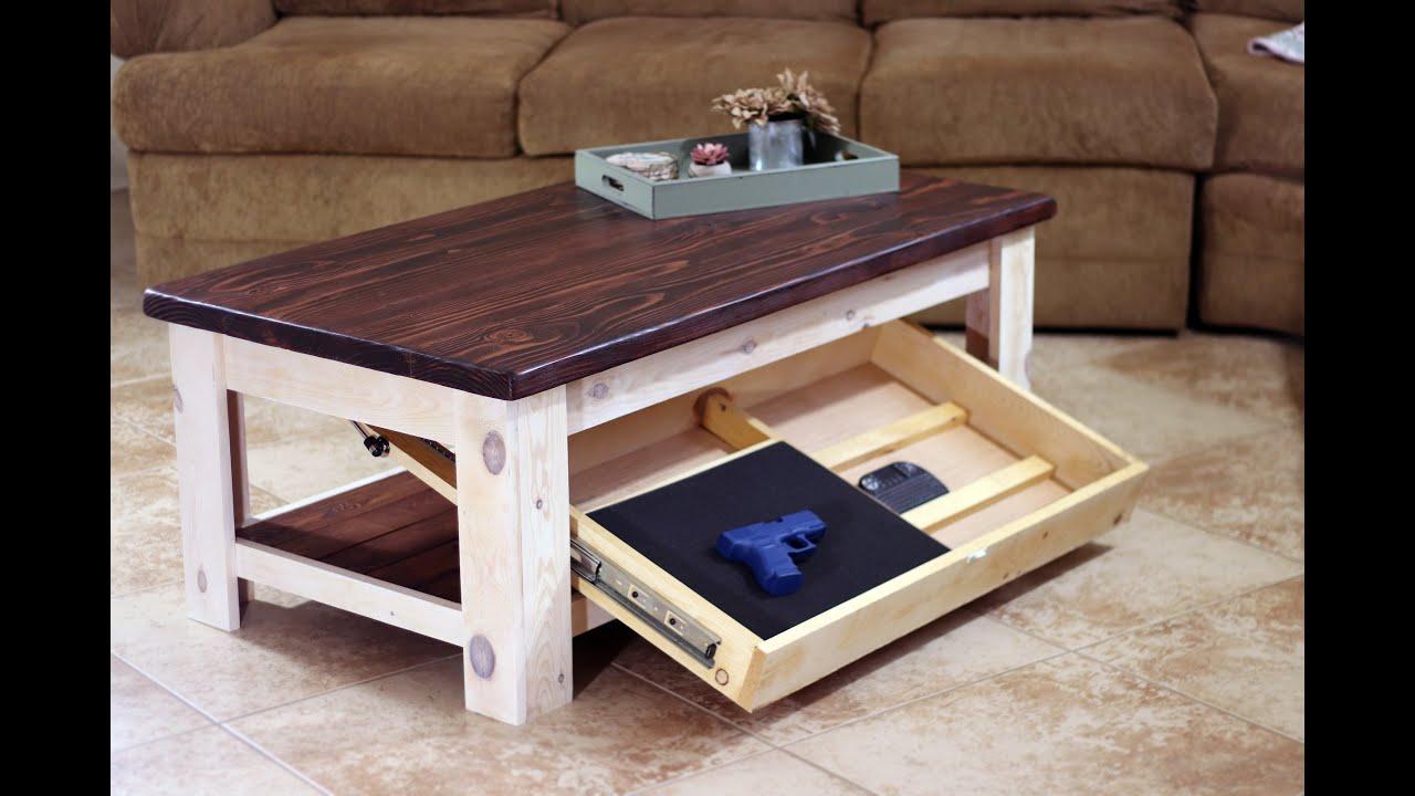easy diy rustic concealment coffee table farmhouse