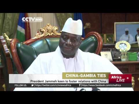 Gambia's President Jammeh encourages Chinese investors and tourists to visit
