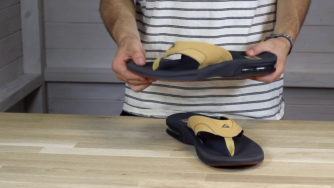 6a79b3ed413a Reef Fanning Flip Flops in Charcoal Tan - YouTube