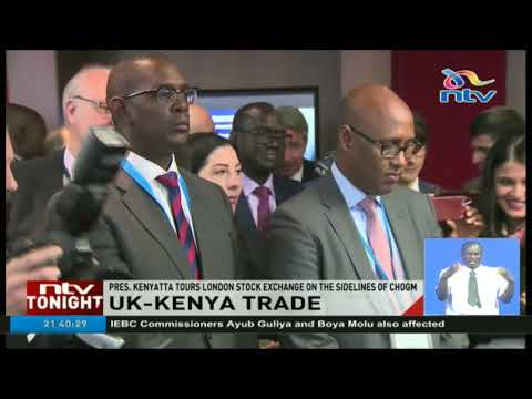 President Kenyatta tours London stock exchange