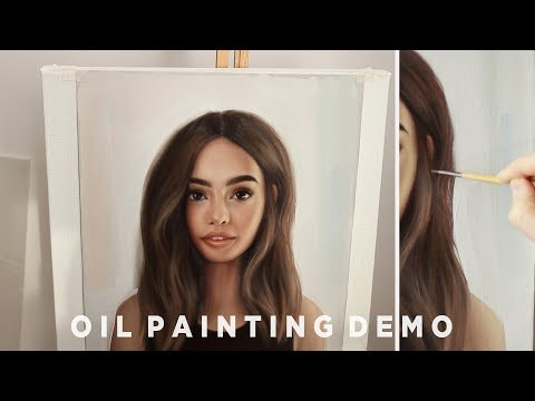 How To Paint Hair || Oil Painting...