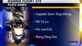 News Station Reports Asiana Flight 214 Pilots Names: