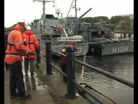 Nato Naval Squadron SNMCMG1 arrives at Newcastle Quayside 26th October 2012