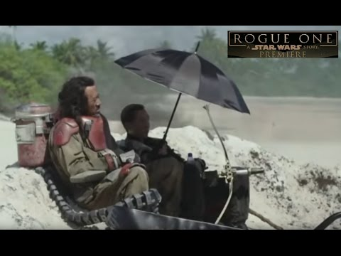 Paradise Featurette New Footage - Rogue One A Star Wars Story Red Carpet World Premiere