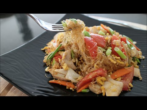 "Glass Noodle Stir-Fry Recipe ""Pad Woon Sen"" ผัดวุ้นเส้น – Hot Thai Kitchen!"