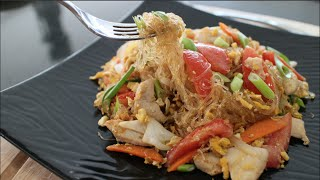 "Glass Noodle Stir-fry ""pad Woon Sen"" - Hot Thai Kitchen!"