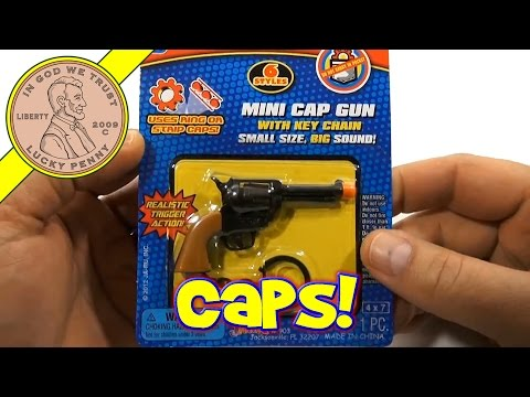 Super Bang Mighty Midget Colt 45 Cap Gun Key Chain, JA-RU Toys