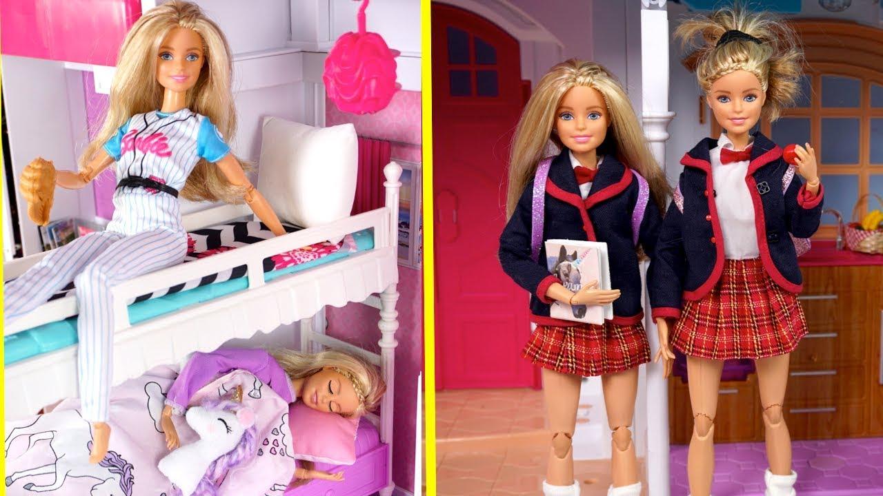 Download Barbie Twins School Morning Routine VS Weekend - Titi Toys & Dolls Barbie Show