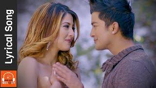 lade lade  lyrical video  new nepali movie timi sanga song ft samragyee rl shah aakash shrestha