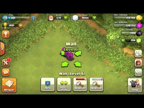 [Clash of Clans] Upgrade walls with elixir!!
