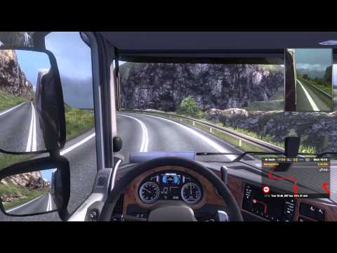 Eurotruck Simulator 2 with TSM and Rusmap Part 7a. Chania (Crete) to Serres (Greece) Part 1