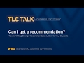 TLC Talk- Writing Strong Recommendation Letters