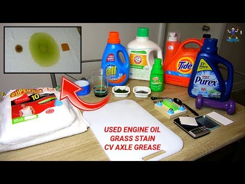 Which Laundry Detergent Removes THE MOST Oil, Grease, & Grass Stains?