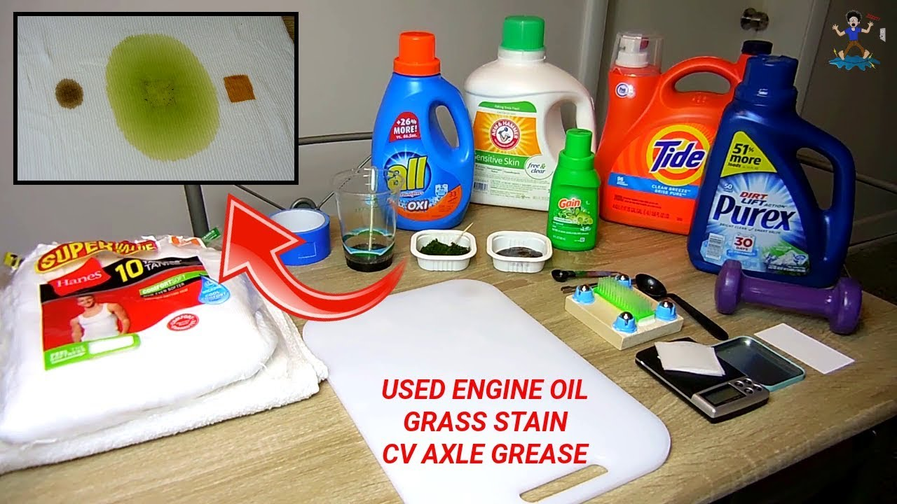 Which Laundry Detergent Removes The Most Oil Grease Grass
