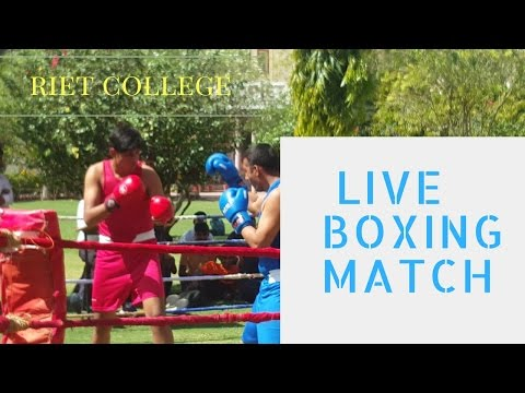 Boxing match in jaipur RIET COLLEGE sport#18