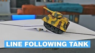 Toy Tank Follows Any Line You Make Using a Marker