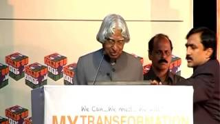 "Dr. APJ Abdul Kalam on ""Transforming Indians to Transform India"""