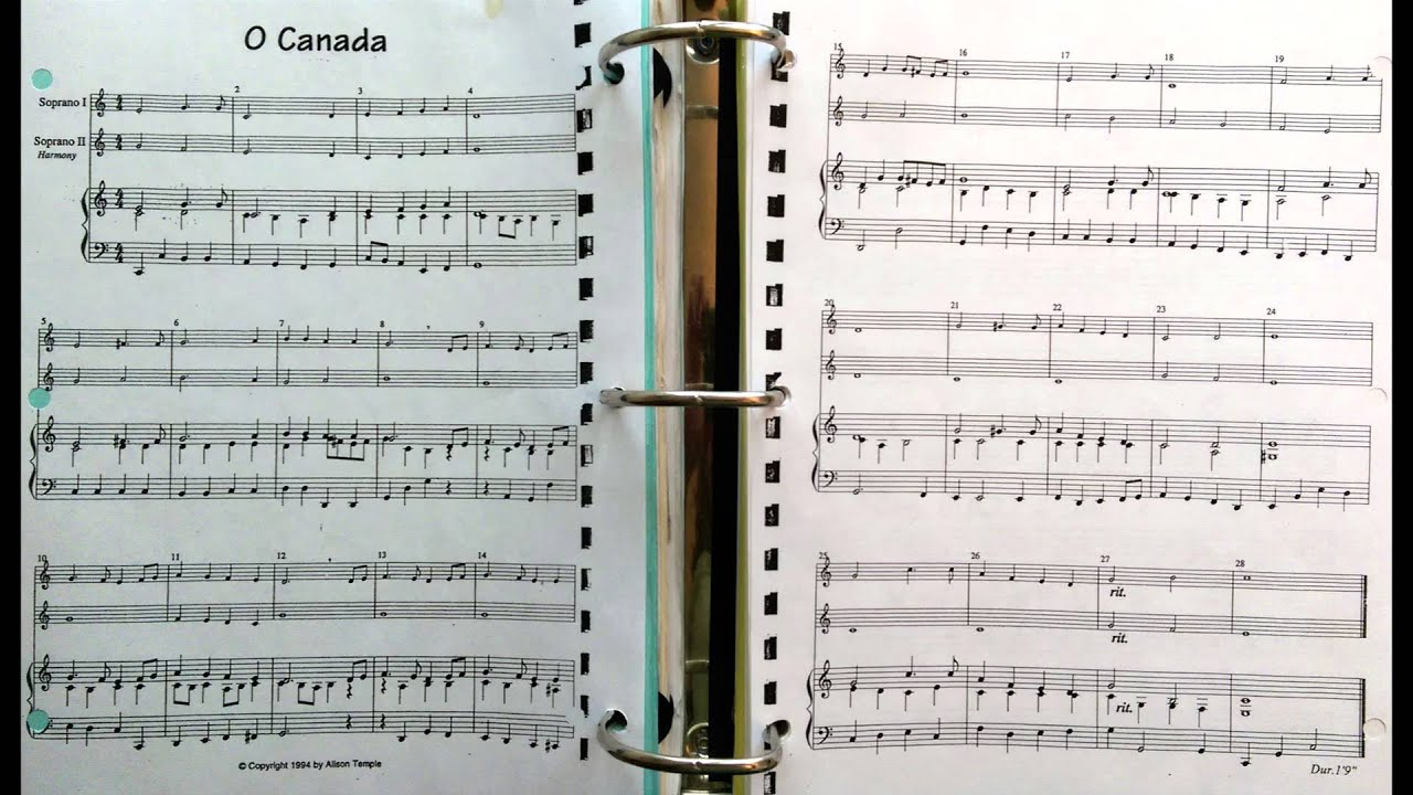 how to play o canada on recorder