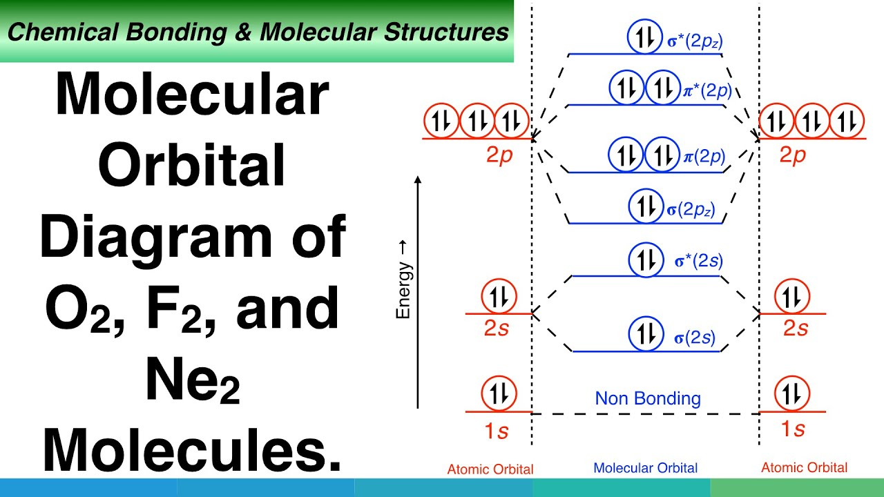 Molecular Orbital Diagram Of O2 F2 And Ne2 Molecules Youtube