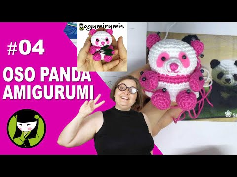 OSO PANDA AMIGURUMI 04 hocico bordado