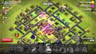 Clash of Clans 3* ATTACK - TH10 5 GOLEM 6 WIZZ 8 WITCH - SACH KHAI