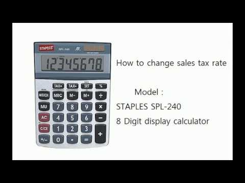 how to change sales tax rate in staples spl 240 calculator youtube