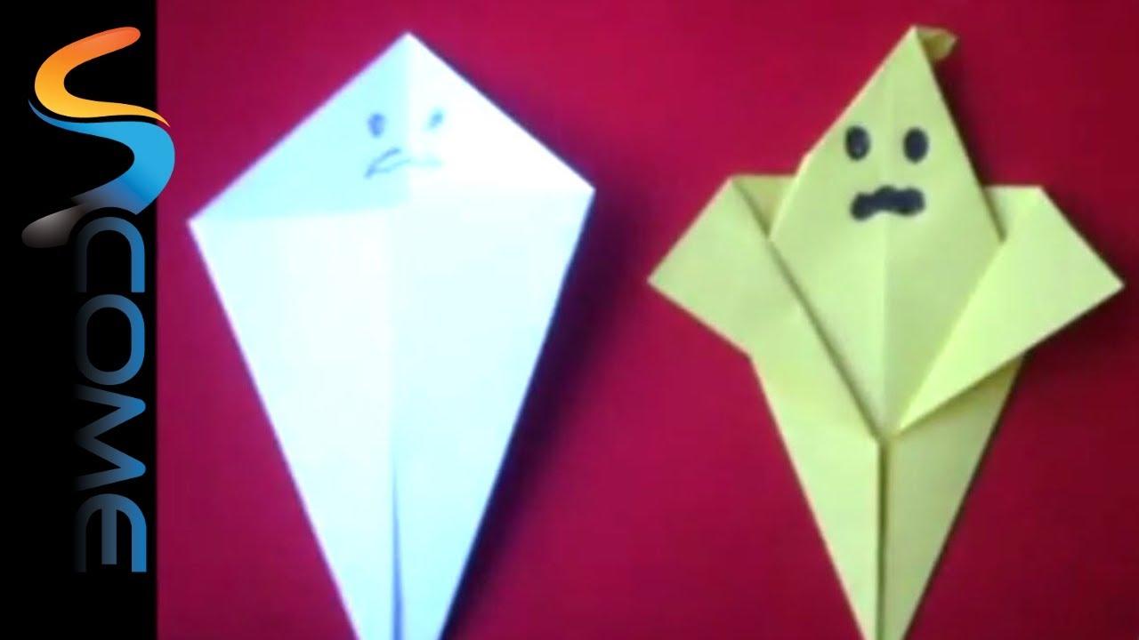 Fare un fanstasma con gli origami per Halloween - YouTube fde8d5054915
