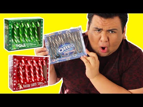 TASTING WEIRD CANDY CANE FLAVORS!!! 🎅🏼🎄
