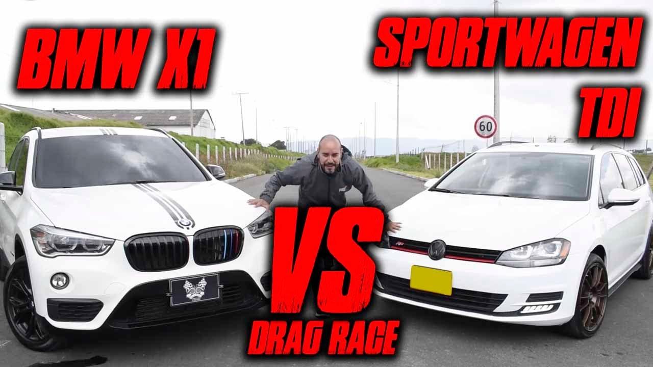 BMW X1 VS GOLF TDI SPORTWAGEN🔥.🔥 Batalla Drag Race