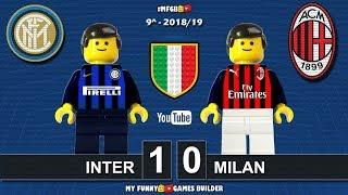 Inter Milan 1-0 • Derby Milano Serie A (21/10/2018) All Goal Highlights Sintesi Lego Calcio 2017/18