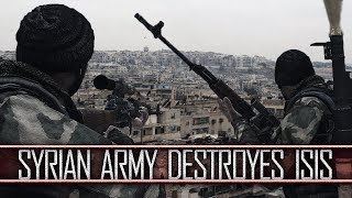 ARMA 3 | Syrian Army destroyes ISIS in Aleppo (Heavy classes & Artillery barrage)