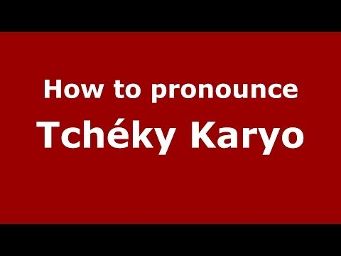 How to pronounce Tchéky Karyo FrenchFrance  PronounceNames.com