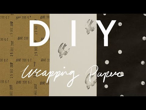 DIY |  Stamped Wrapping Paper | cynch makes