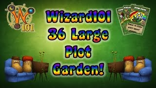 Wizard101 - 36 Large Plot Garden in One Ring