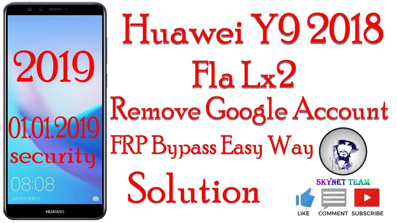Huawei Y9 2018 Dual SIM FLA-LX2 Android 8.1.0 Oreo Remove Google Account  FRP Bypass Eas