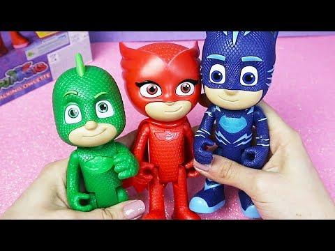 Pj Masks Super Pigiamini - Unboxing di Gufetta, Gattoboy e Geco parlanti! [Apertura gioco]