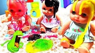 Куклы Пупсики купаются в Слизи Играют с Лизунами Дочки матери Игрушки для девочек Curly Lisa