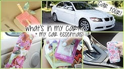 WHAT'S IN MY CAR?! + CAR ESSENTIALS!