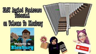 Bloxburg || EASY Angled Staircase Tutorial || ROBLOX