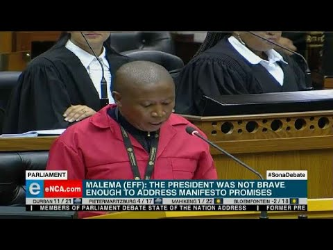 Julius Malema in Parliament