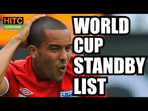 ENGLAND World Cup Standby List (2006-2014)
