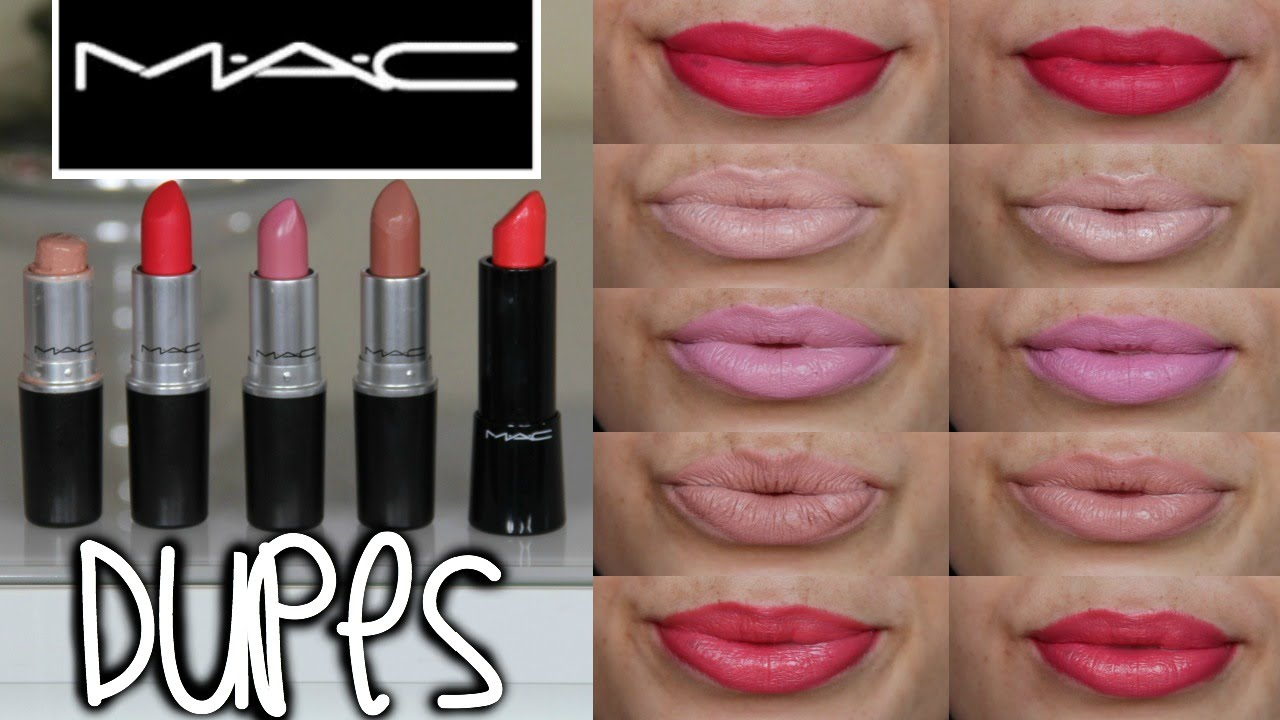 Vaak MAC Lipstick Drugstore Dupes + Lip Swatches 2015 - YouTube #YE52