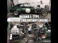 Jaguar E-Type with a 20B Rotary Engine Swap