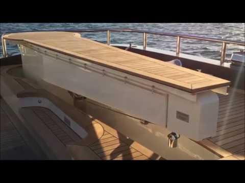 Hydromar hidden deck crane on M/Y Renegade