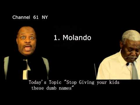 """Talk Show  Today's Topic """" Stop giving your kids these dumb made up names"""""""
