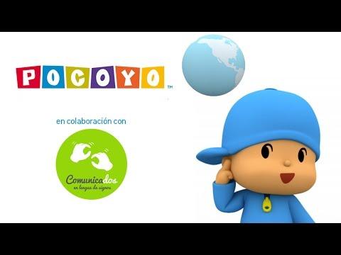 Pocoyo os deseja um Feliz Dia Internacional das Pessoas Surdas
