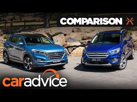 Hyundai Tucson Highlander v Ford Escape Titanium comparison | CarAdvice